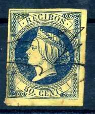 SPAIN - SPAGNA - 1865 - Isabella II. Ricevute fiscali. S2098