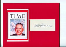 William A. Patterson United Airlines CEO Aviation Signed Autograph Photo Display