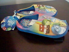 BRAND NEW GIRL'S SIZE 11-12 DISNEY INSIDE OUT MOVIE SCUFF SLIPPERS