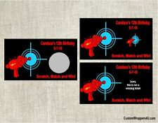 Laser Tag Birthday Party Scratch Off Cards Tickets Favors Personalized Custom