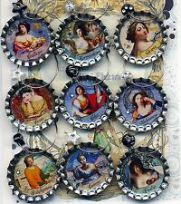 Greek Muses set of 9 wine beer and drink charms tartx