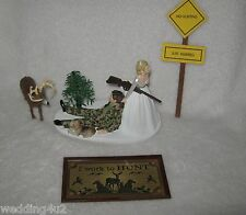 Wedding Party Reception ~Buck Deer~ Cake Topper Camo Groom Hunter Hunting