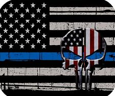 Thin Blue Line Punisher Mouse Pad - Police Mouse Pad