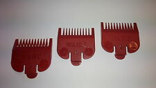 3 x c0loured Wahl CLIPPER ALLEGATO PETTINE Guardia n. 1 x 3