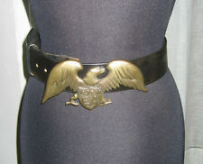 *RARE* EMPORIO ARMANI 70/28 LEATHER BELT WITH LARGE BRASS EAGLE BUCKLE