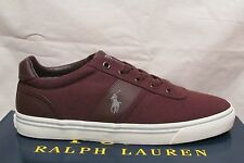 RALPH LAUREN POLO HANFORD CANVAS RED WINE  TRAINERS UK 9 NEW IN BOX RRP £65