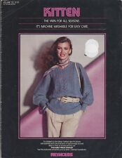 Reynolds KITTEN Knitting Patterns for the Whole Family 4 Different Patterns