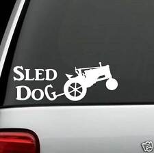 A1173 Antique Tractor Sled Dog Decal Sticker for Car Truck SUV Van Classic Barn