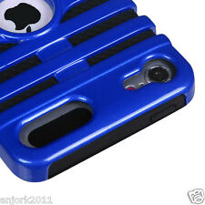 Apple iPod Touch 5 Mic Dual Layer Hybrid Case Skin Cover Accessory Blue Black