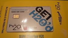 NANO H2o Sim Card, Work On AT&T Network Fits iPhone 5, 5s, 5c, 6, 6 Plus