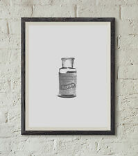Retro vintage A4 print Poster Print Picture Wall Art Heroin bottle retro