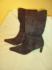 LADIES BLACK SUEDE WALLIS BOOTS SIZE 6 MADE IN ITALY LEATHER UPPERS