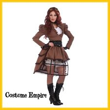 Steampunk Vicky Victorian Ladies Costume. Fancy Dress Party Outfit. Size 10-14