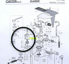 2 X Gaggia Classic Baby Evolution Boiler Gasket Seal O-Ring - DM0041/082 EPDM