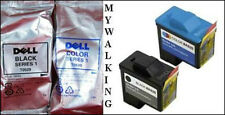 2 GENUINE DELL CARTRIDGES T0530 COLOUR + T0529 BLACK A 920 720 FAST FREE POSTAGE