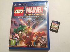 BOXED SONY PS VITA PSVITA GAME LEGO MARVEL SUPER HEROES UNIVERSE IN PERIL GWO