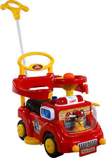 Baby Car Fire Engine Red Toddler Ride On Push Along Parent Handl NEW HOT PRICE