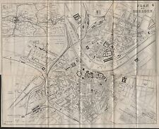 1890 Ca ANTIQUE TOWN PLAN - DRESDEN GERMANY