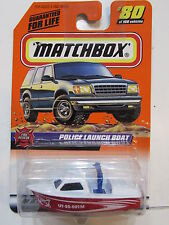 MATCHBOX 1999 #80 FIRE RESCUE - POLICE LAUNCH BOAT
