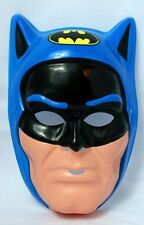 Vintage 80s Batman Super Hero Halloween Mask DC Blue Ben Cooper New York Y098
