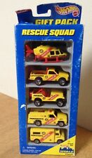 Hot Wheels RESCUE SQUAD 5 CAR GIFT PACK ~ 1996 ~ Emergency Vehicles  T30