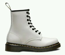 Dr Martens 1460 W 8 Eyelet Patent Leather Boots Women's US 10 White NEW