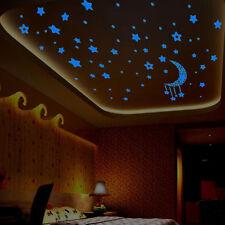 A Set In The Dark Luminous Fluorescent Wall Stickers Kids Bedroom 3D Stars Glow