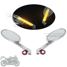 LED Turn Signal Rearview Mirrors Fit Kawasaki Vulcan 1700 VN1600D Nomad Classic