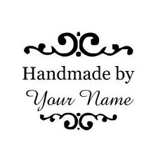 New Round Self-Inking Rubber Stamp with Handmade by- can customize with yourname