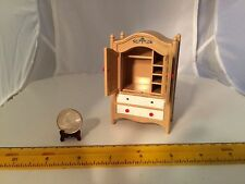 1/16 SCALE MINIATURE TOMY WARDROBE W 2 DRAWERS 2 DOORS THAT OPEN/CLOSE