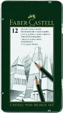 Faber Castell 9000 Pencils Design Set 12 Grade Tin ( 5B - 5H )