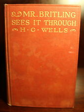 H. G. Wells Mr. Britling Sees It Through 1916 1st Am Ed 1st Print WWI England