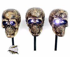 New Halloween Flash Strobe Light Skull Path Markers Prop