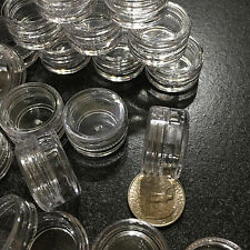 100 Empty Cosmetic Jars Small Sample 3 Gram Ml Beauty Lip Balm Containers Clear
