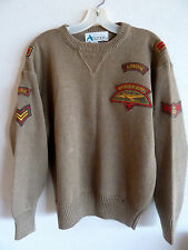 Audacity Airborne Pullover  Sweater Royal Air Corp Patches  S