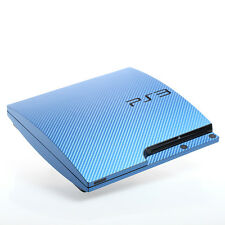 Blue Carbon PS3 slim Textured Skins -Full Body Wrap- decal sticker cover