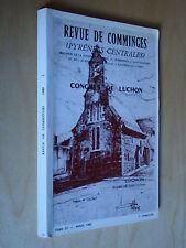 Revue Comminges 1989 Livres et imprimeurs Pyrénées centrales / François Mauriac