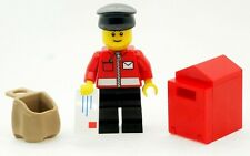 LEGO Postman Minifigure with Sack Letter and Postbox NEW Town City