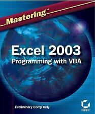 Mastering Excel 2003 Programming with VBA-ExLibrary