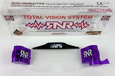 100% PURPLE Roll Off Cannister TVS Goggle System Rip N Roll Motocross Enduro MTB