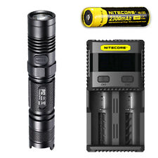 Nitecore P12 XM-L2 U2 Flashlight w/ SC2 Charger & NL183 Rechargeable Battery