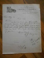 Antique 1903 LJ Carey & Co Dealers in Furniture & Undertakers Amherst WI Letter