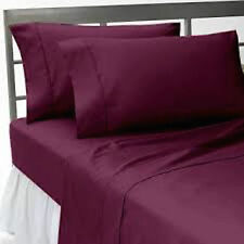 LUXURY PLAIN DYED FLAT BED SHEET IN SINGLE, DOUBLE, KING SIZE & PILLOW CASES