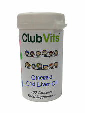 Club Vits - Omega-3 Cod Liver Oil For Kids - 100 Capsules - Heart Health