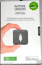 Native Union Jump Cable for iPhone - Apple Lightning Connector OPEN BOX