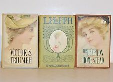 1890 Antique Distressed Old Books for Home Decor ~ Victorian Ladies Set of 3
