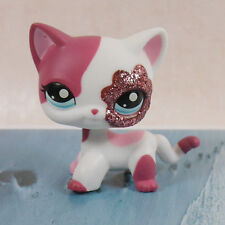 "CUTE fuchsia white Cat kitty COLLECTION 3""  FIGURE LPS LITTLEST PET SHOP"