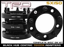 "4 PC TOYOTA 1"" HUB CENTRIC WHEEL SPACERS FITS TUNDRA SEQUOIA LAND CRUISER LX470"