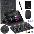 EEEKit for 7/8/10 Inch Tablet,Folio Cover Case+Bluetooth Wireless Keyboard/Mouse