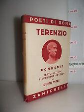VOLUME Poeti di Roma TERENZIO COMMEDIE testo latino e traduzione ed.1939